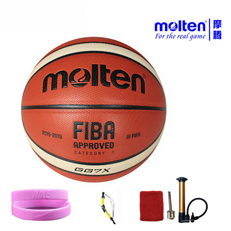 ФОТО original molten basketball ball GF7X  GG7X NEW Brand High Quality Genuine Molten PU Material Official Size7 Basketball