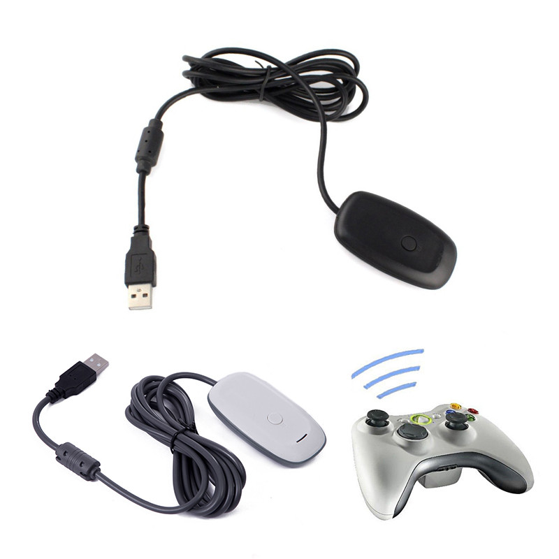Windows PC Wireless USB Receiver Gaming Adapter For Xbox 360 Controller Black White ...
