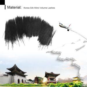 Image 2 - Silk Mink Individual Eyelash Extension 100% Handmade Lashes Extension Heat Resistant Silk Korea Eyelash Extension for Buildings
