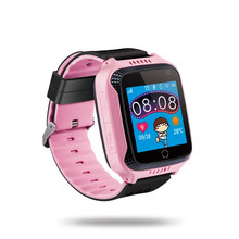"Kids Smart Watch Phone for Children Girls Boys 1.44"" TFT Touch Screen GPS Tracker Smartwatch clock SIM Card for iOS Android 2019(China)"