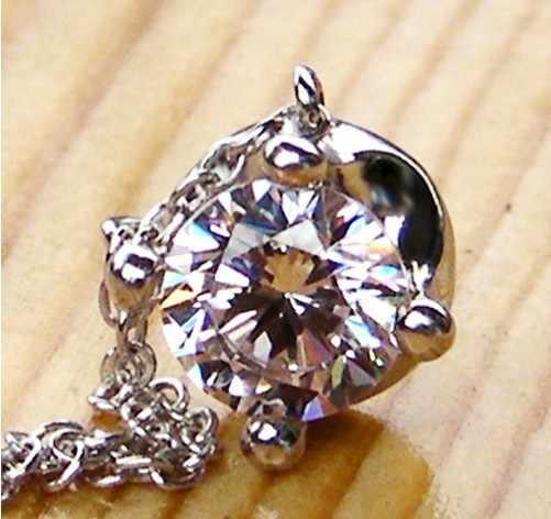 素敵なデザインアンティークヴィンテージラボメイドsona合成ダイヤモンドペンダントネックレス用女性細かいブライダル婚約ジュエリー