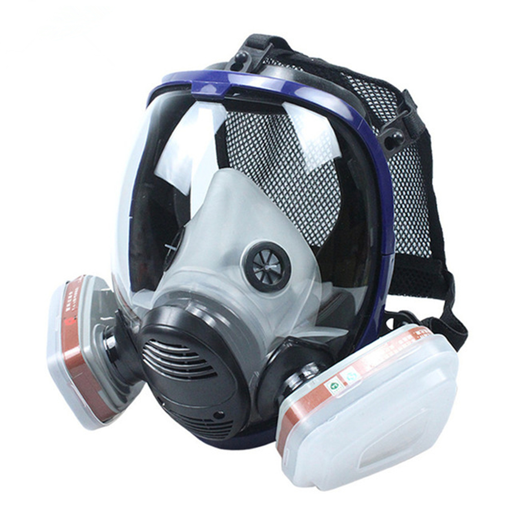 7 In 1 Set Full Face Mask For RE 6800 Gas Mask Full Face Facepiece Respirator For Painting Spraying Protection Tool in Chemical Respirators from Security Protection