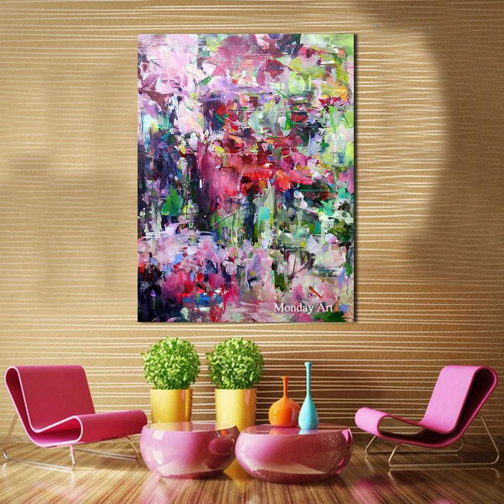 Abstract art painting modern wall art canvas pictures large wall paintings handmade oil painting for living room wall decor art in Painting Calligraphy from Home Garden