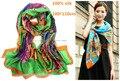 Luxo de 100% de seda de impressão cachecol cachecol 180 * 110 cm 19 cores L676