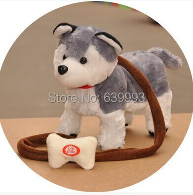 Rope Electric Dog Plush Toy Dog Music Robotic Dog Remote Control Dog