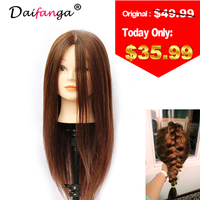 100% Human Hair Training Head Hairdressing Practice Training Mannequin Doll Head For Sale