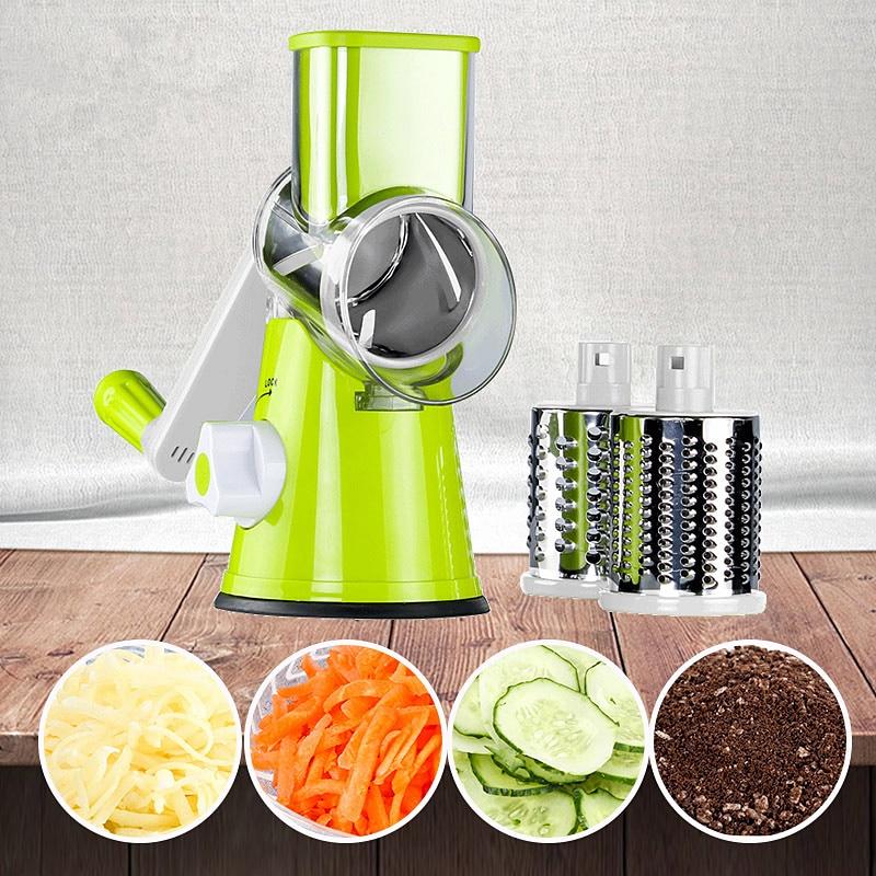 Manual Vegetable Fruit Slicer Round Cutter Chopper Gadgets Shredder Kitchen