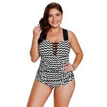 2019 New One Piece Swimsuit Black White Zigzag Crisscross Neckline Women's Swimsuit crisscross open back solid swimsuit