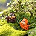 1Pair Cute Large Tail Squirrel DIY Resin Fairy Garden Craft Decoration Miniature Micro Gnome Terrarium Gift