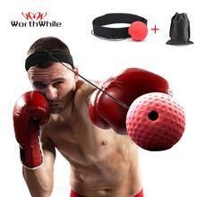 Bande de tête de balle réflexe de boxe coup de pied utile entraînement de vitesse de combat balle de frappe Muay Tai MMA accessoires déquipement dexercice