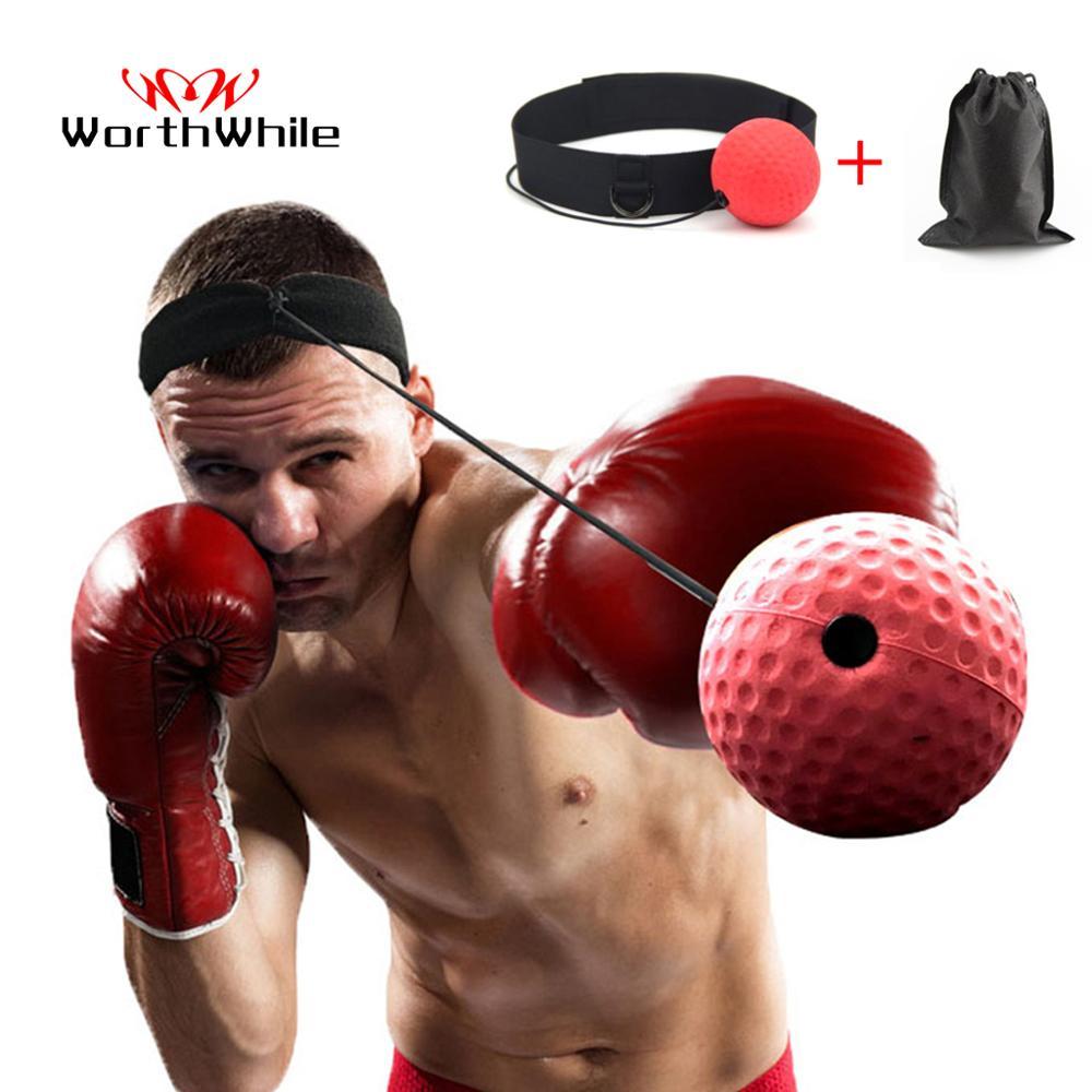 Worthwhile bola de reflexo para kickboxing, bola de socos para treino de combate a cabeça, equipamento de exercício muay thai mma
