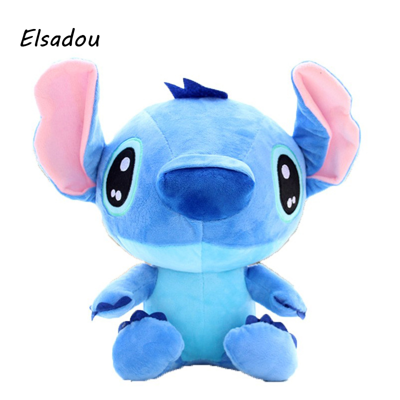 Elsadou 40cm Cute Cartoon Lilo and Stitch Plush Toys Doll Stuffed 55cm cute cartoon lilo and stitch warm hand pillow plush toy doll stuffed pillow cushion toys dolls warm hands stitch kids toy