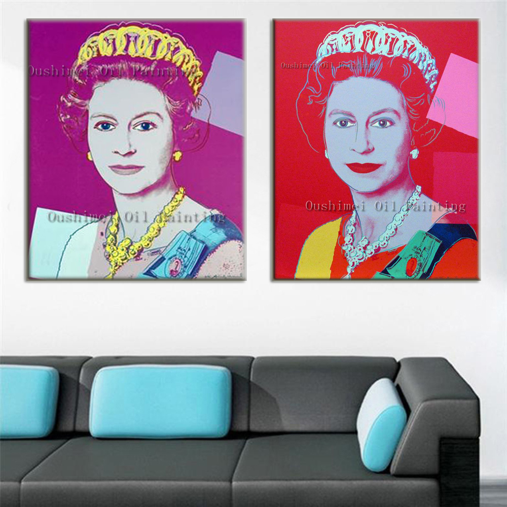 New Handmade Queen of England Painting Portrait Oil Painting Wall Art for Living Room Decor Modern Abstract Face Paintings-in Painting u0026 Calligraphy from ...  sc 1 st  AliExpress.com & New Handmade Queen of England Painting Portrait Oil Painting Wall ...