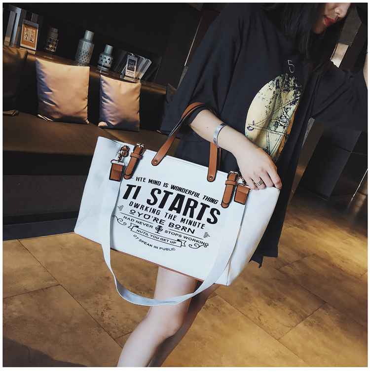 Luxury Ladies Bags Canvas Fashion Large Capacity Tote Bags Letter Shoulder Messenger Bags for Women 2018 Casual Tote Luis Vuiton 14