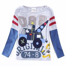 Boy T-shirt long-sleeved shirt boy child full-sleeve childrens children wear clothes A5615