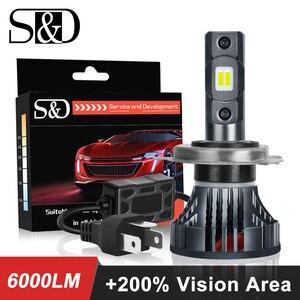 Image 1 - 9003 H4 Led 오토바이 헤드 라이트 전구 6000LM 35W 하이/로우 라이트 화이트 운전 조명 오토바이 H4 LED 모토 자전거 헤드 램프 램프 12V