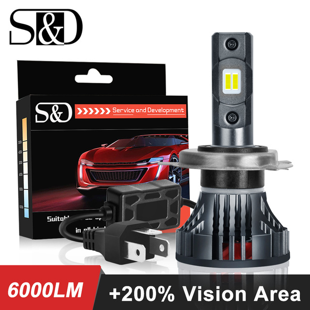 9003 H4 Led 오토바이 헤드 라이트 전구 6000LM 35W 하이/로우 라이트 화이트 운전 조명 오토바이 H4 LED 모토 자전거 헤드 램프 램프 12V