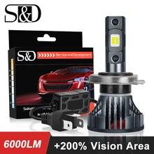 9003 H4 bombillas Led para faro de motocicleta 6000LM 35W hi/lo luces de conducción blancas para Moto H4 lámpara LED para Faro de Moto 12V