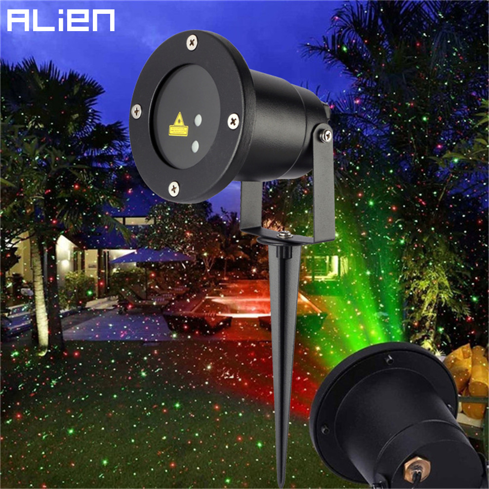 Details Of Cheap Outdoor Christmas Laser Lights Christmas: ALIEN Static Red Green Sparkling Star Laser Outdoor