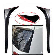 High quality Gloss Black ABS For Volkswagen VW Golf 7 MK7 2pc spoiler 2013-2018 Aauto Car-styling Rear Wing Side Spoiler for volkswagen golf 7 mk7 2014 2018 spoiler for volkswagen vw golf 7 mk7 2014 2015 2016 2017 spoiler abs spoiler non gti r