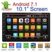Дюймов 10,1 дюймов Съемная панель Android 7,1 автомобиль DVD 4 ядра головное устройство автомобиля радио gps Wi Fi Navi 1024*600 Bluetooth FM USB DAB +