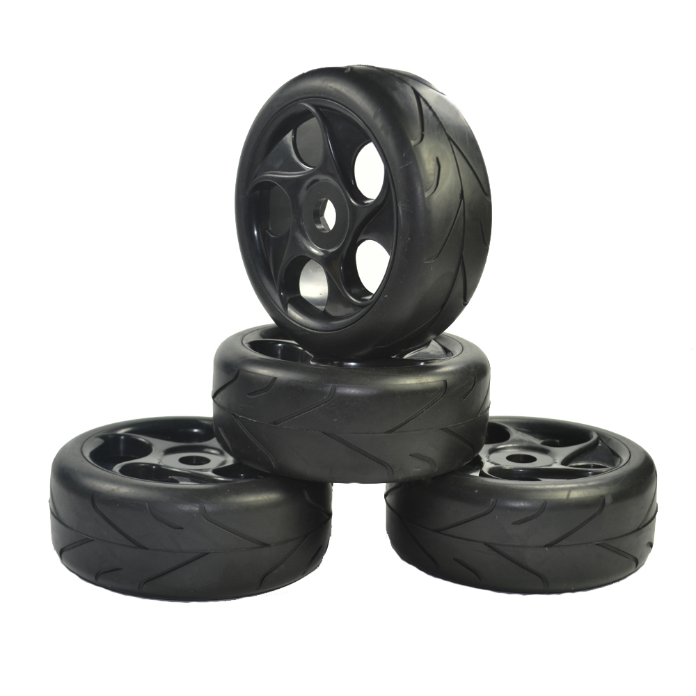 4pcs 1:8 RC Off Road Car Buggy Tires Tyre Arrow Thread Pattern and Wheel for 1/8 HSP Black подвесная люстра odeon light tarsu 2617 3