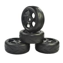 4 шт. 1:8 Rc-офф-роуд Автомобиля Багги Шины Стрелка Рисунок Протектора и Колеса для 1/8 HSP Черный