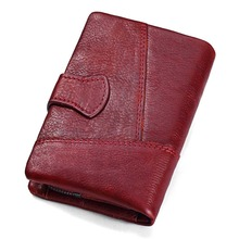 Genuine Leather Women Wallet And Purses Coin Purse Female Small Portomonee Rfid Walet Lady Perse For Girls Money Bag