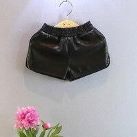 2016 Spring Summer Nova Fake Leather Baby Girls Shorts Pu Boy Shorts Suit 2 7 T