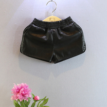 summer new fake leather baby girls shorts pu boys shorts infant baby shorts autumn clothes for