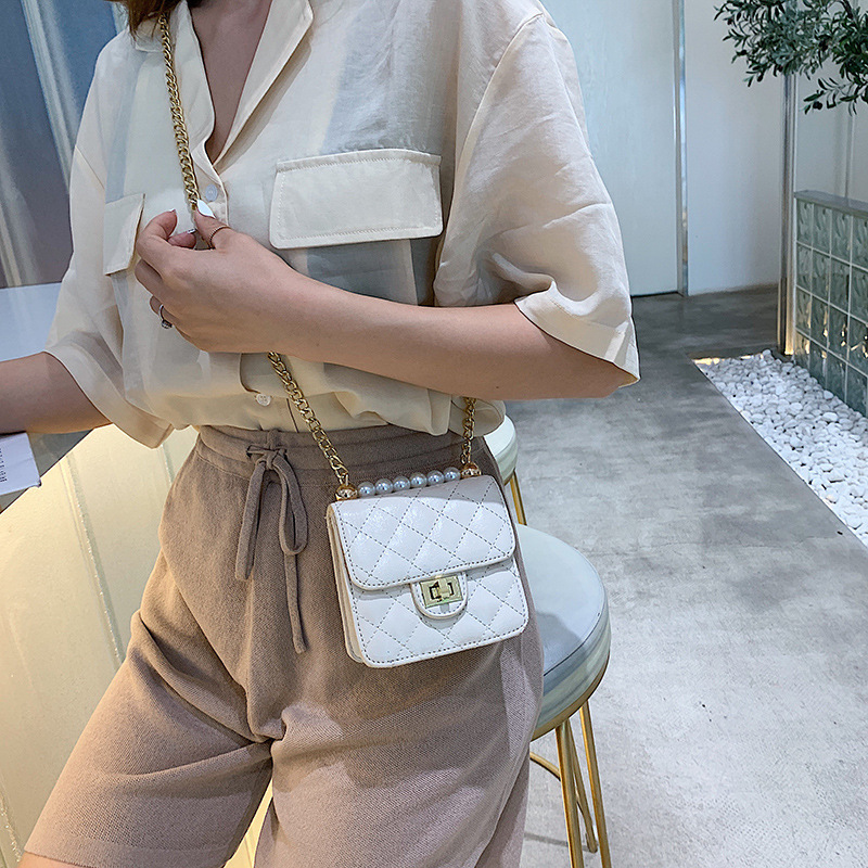 Female Crossbody Bags Women 2019 High Quality PU Leather Luxury Handbags Designer Sac A Main Ladies Pearl Shoulder Messenger Bag in Shoulder Bags from Luggage Bags