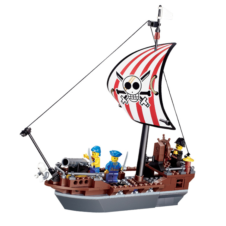 197pcs Pirates series building blocks Stop No. Pirate Ship Bricks Blocks Kids Educational Bricks Toys Compatible with legoe lepin 22001 pirate ship imperial warships model building block briks toys gift 1717pcs compatible legoed 10210