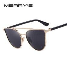 MERRY'S Fashion Cat Eye Sunglasses Women Classic Brand Designer Sun Glasses Double-Bridge Shades UV400 S'8092