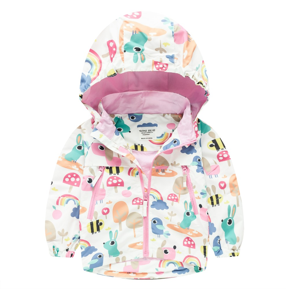 TYY-03 Autumn Winter Fashion bee Cartoon Coat Hoodie Child Jacket Girls Tops Windbreaker cute Print Thin Coat Summer Thin Jacket