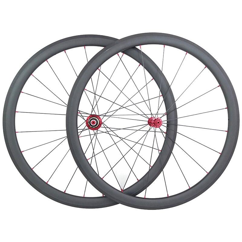 SUPER LIGHT 38mm tubular carbon fiber road wheels UD matte 20 24 aero 11speed carbone wheelset