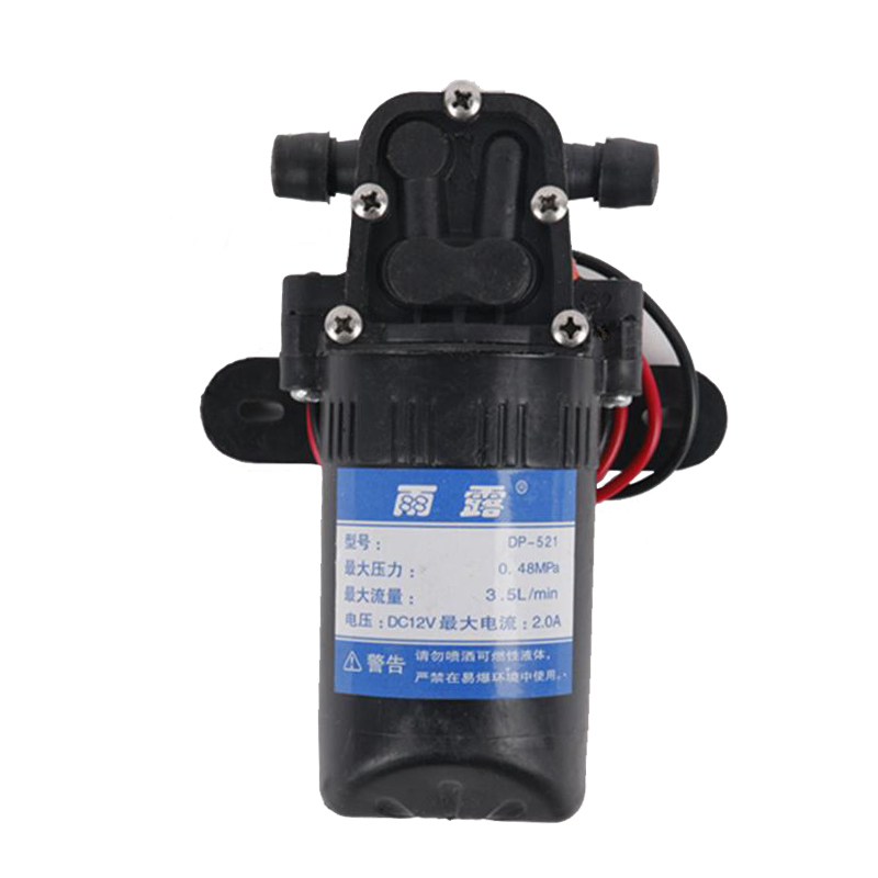 DC 12V Agricultural Electric Water Pump 70PSI 3.5L/min High Pressure Micro Diaphragm Water Pump for Car Wash Water Sprayer Pump dc 12v 80w high pressure diaphragm water pump electric water pump for boat caravan marine motor water pumps