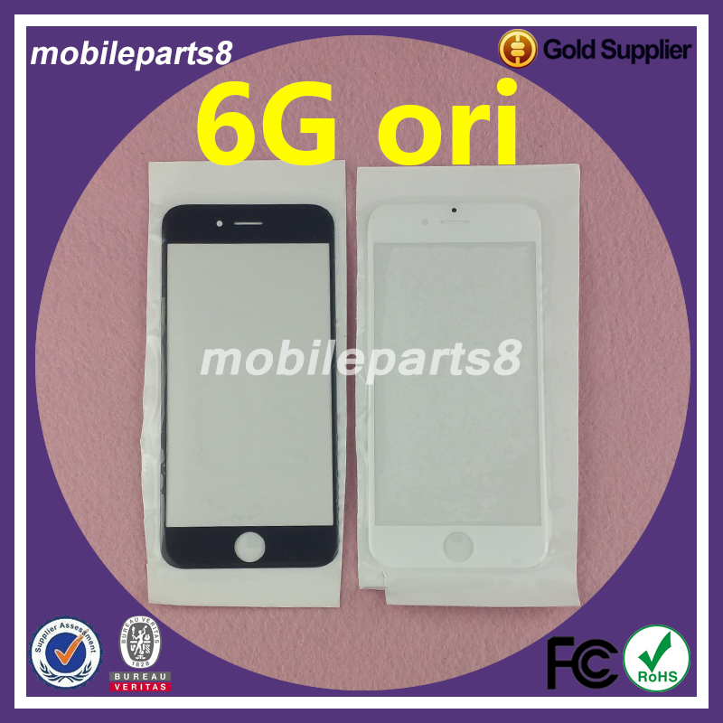 10pcs/lot Fress shipping fee touch screen glass (not digitizer)for iPhone 6 Front Screen Outer Glass Replacement ori