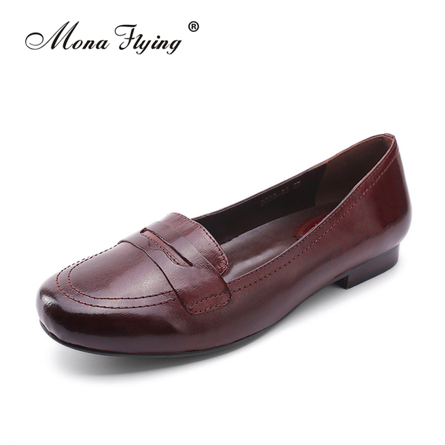 Women's Flats Shoes 2017 Brand Genuine Leather Women Dress Shoes for Women  Office Ladies Handmade Big - Aliexpress.com : Buy Women's Flats Shoes 2017 Brand Genuine