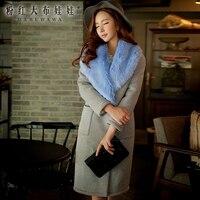 original 2018 brand winter coat with fur collar slim fashion pocket casual warm thickening long parka women wholesale