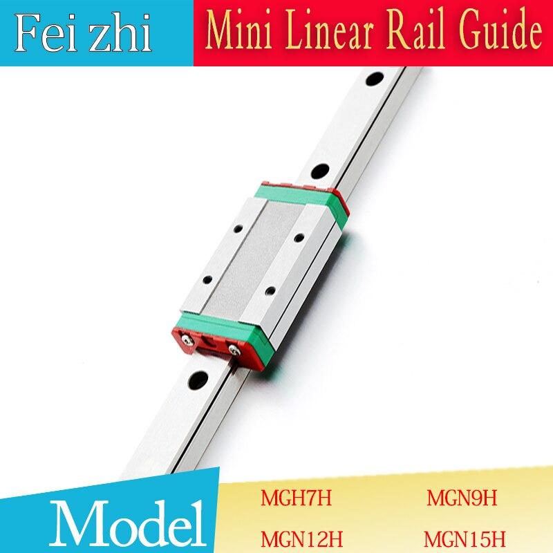 3D print parts cnc MGN7H MGN12H MGN15H MGN9H mini linear rail Guide 1pc MGN linear rail guide +1pc MGN slider