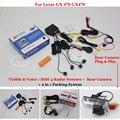 Para Lexus GX 470 GX470-Sensores de Estacionamento + Retrovisor Do Carro visão Da Câmera = 2 em 1/Visual de Alarme BIBI Estacionamento sistema