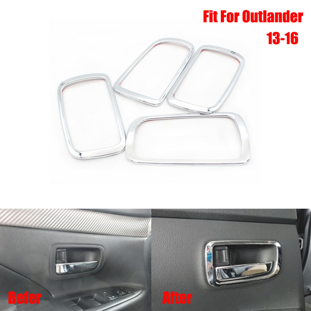 Dongzhen 4PCS Car Inside Door Handle Bowl Cover Inner Trim