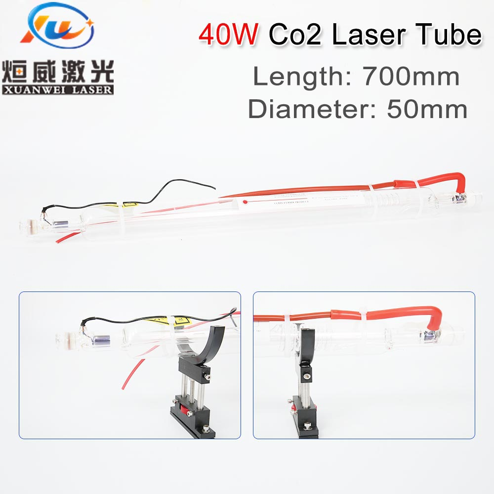 Co2 Glass Laser Tube 700MM 40W Glass Laser Lamp for CO2 Laser Engraving Cutting Machine