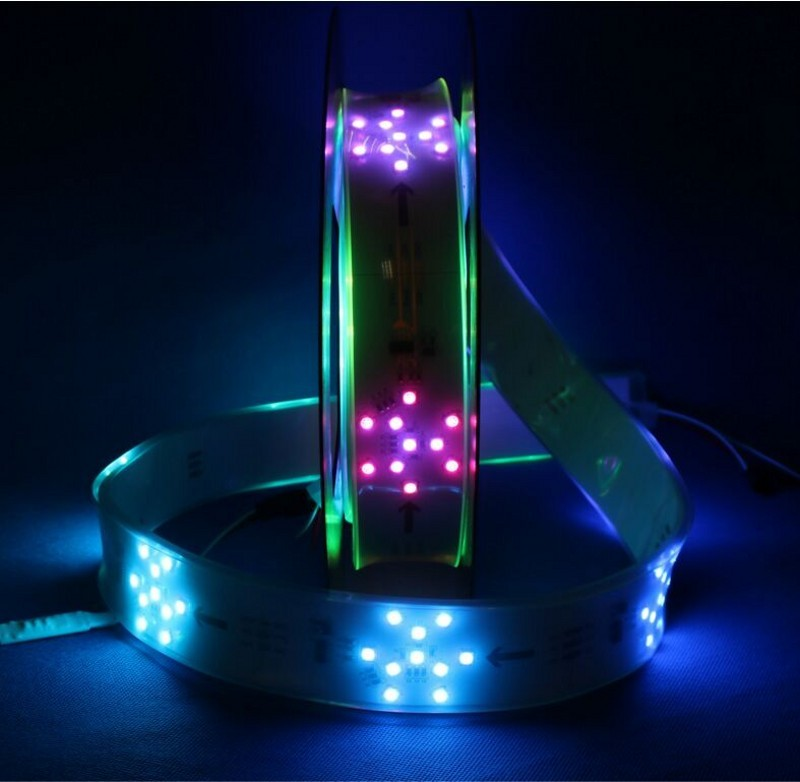 DC 24V TM1809 RGB led neon Pixel rope snowflake Full color Strip lights 1m 2m 80leds/m 8pixels/m waterproof IP67 tube 40mm PCB