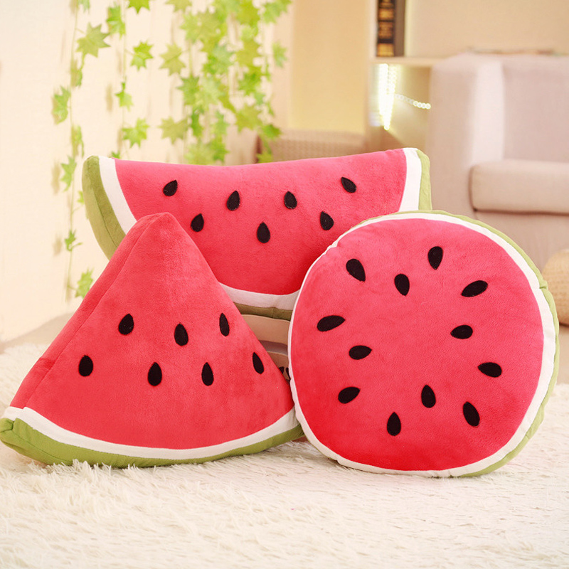 Big Watermelon Pillow Personality Creativity Cute Stuffed Toys Fruit Cushion Round  Vintage Home Decor  Accessories