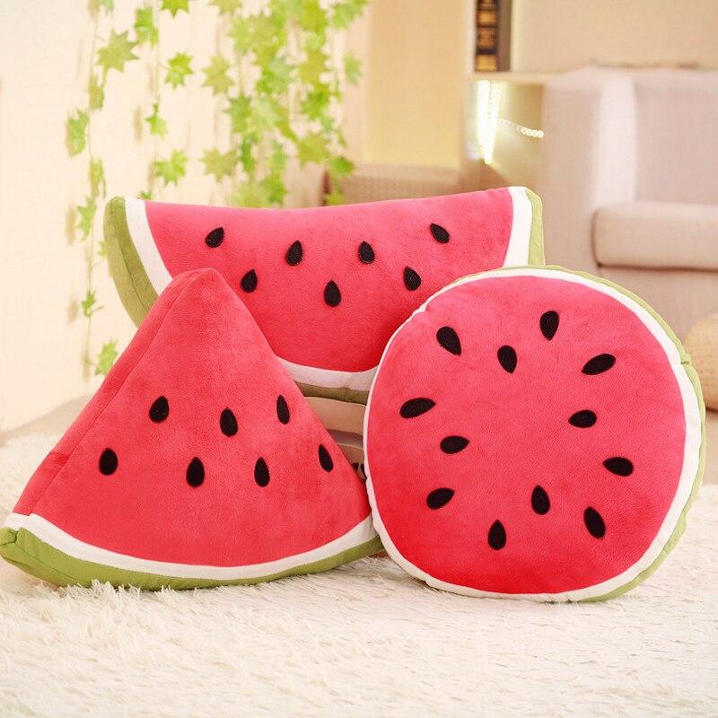 OfficiëLe Website Grote Watermeloen Kussen Persoonlijkheid Creativiteit Leuke Knuffels Fruit Kussen Ronde Vintage Home Decor Accessoires Uitverkoop Totale Korting 50-70%