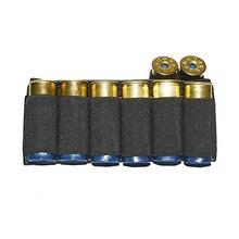 Airsoft 소총 사냥 전술 산탄 총 포탄 8/9 엉덩이 카트리지 주식 쉘 홀더 탄성 직물 shotshell 탄약