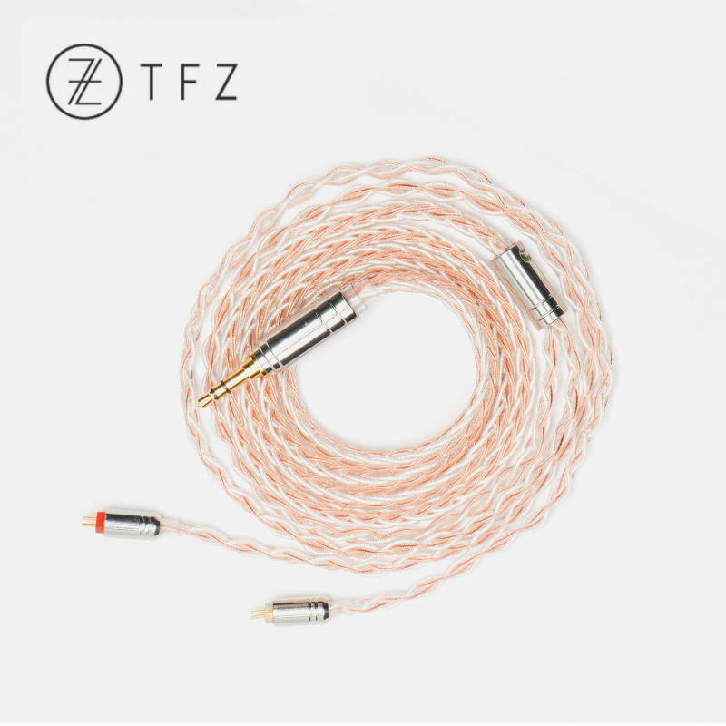 купить TFZ TC-1 TC-2 2pin/0.78mm Upgrade Cable Hand-woven High-Purity Single Crystal Copper Silver Foil for T2 HIFI earphones TC 1 TC 2