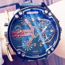 Top Luxury Brand Casual Fashion Leather Quartz Watch Men Women Military Sports Wrist Watch Wristwatch Big Dial Cool Trendy