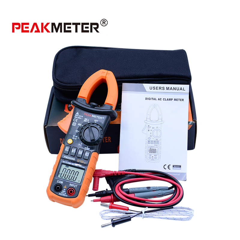 Digital AC Clamp Meter MS2008B Diode test 4000 Counts Backlight multimeter Tester Electrical portable multimeter mastech ms2001f holdheld digital clamp meter 31 2 bit ac digital clamp continuity diode test with backlight